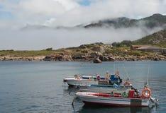 Зачаливание шлюпки рыболова Стоковые Фото