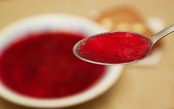 Зачерпните суп ложкой Стоковая Фотография RF