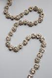 Зашейте оплетку в серебряном цвете с ясный лежать камней стоковые изображения