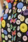 Зашитые кнопки, buterfly форма Стоковые Фотографии RF