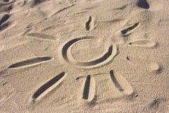 зашкурите символ солнца Стоковые Изображения