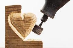 Зашкурить деревянный конец белизны Стоковые Фото