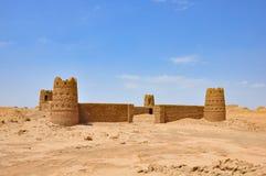 Зашкурьте замок в пустыню Иран стоковые изображения rf