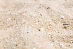 Зашкурьте конец-вверх, текстуру песка, пустой пляж, солнечный день, Стоковое Изображение