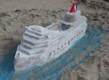 Зашкурьте скульптуру на пляже острова кролика во время состязания 27th ежегодного песка острова кролика ваяя Стоковое Фото