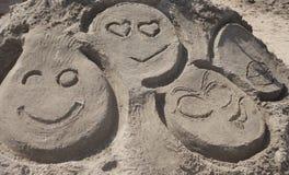 Зашкурьте скульптуру на пляже острова кролика во время состязания 27th ежегодного песка острова кролика ваяя Стоковая Фотография RF