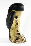 Зашнуруйте вверх перчатку бокса с белой предпосылкой Стоковое Изображение RF