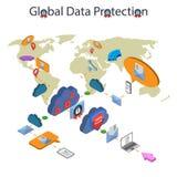 Защита данных и безопасная работа Стоковые Изображения RF