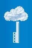 Защита данных, концепция безопасностью облака вычисляя Стоковая Фотография RF