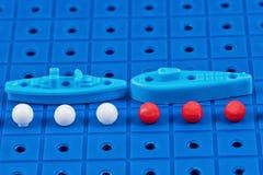 Защита морских границ забавляется воинские корабли Стоковое фото RF