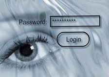 защита секретности пароля Стоковое фото RF