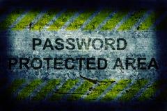 Защита секретности пароля Стоковые Изображения RF