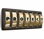 Защитите безопасность безопасности шкал замка писем слова безопасную Стоковое Фото