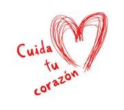 Защитите ваше сообщение сердца в испанском языке Стоковая Фотография RF