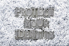 Защитите вашу идентичность стоковое изображение