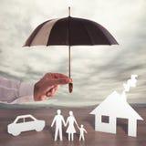 Защитите вашу семью стоковое фото rf