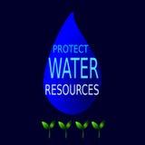 Защитите водные ресурсы Стоковая Фотография