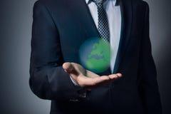 Защитите землю планеты стоковое изображение rf