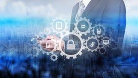 Защитите концепцию данным по данным по облака Безопасность и безопасность данных по облака Стоковые Изображения RF