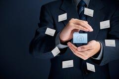 Защитите против спама стоковые изображения rf