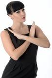 Защитительная защитная женщина при пересеченное оружие Стоковое Изображение
