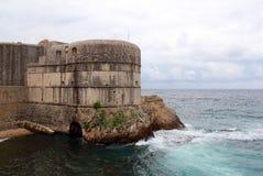 Защитительная крепость в Дубровнике, Хорватии Стоковое Изображение RF