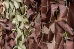Защитная воинская маскировочная сетка 3-цвета Стоковые Изображения RF
