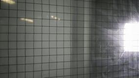 Защитное стекло изготовлено главным образом как огнезамедлительное Установка связанного проволокой стекла стоковое фото