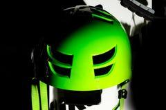 Защитный зеленый шлем Стоковая Фотография RF