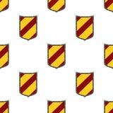 Защищает безшовную картину Защитите, логотип безопасностью, элемент защиты heraldic бесплатная иллюстрация