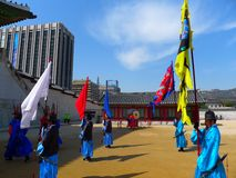защищает парад seoul Кореи Стоковое Фото