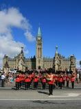 защищает парламента холма маршируя стоковое фото rf