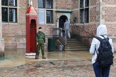 Защищать замок Rosenborg, Дания стоковое фото
