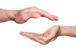 защищать рук Стоковое Изображение RF