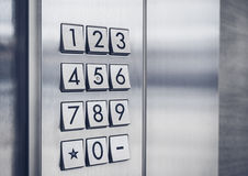 Защищенная система безопасности кнопочной панели кода пароля Стоковое фото RF