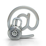 защищенная электронная почта Стоковые Фотографии RF