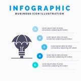 Защищенные идеи, авторское право, оборона, идея, предпосылка представления шагов Infographics 5 значка патента твердая иллюстрация штока