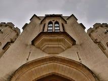 Заявите республику Hluboká замка (глубокую) национальную историческую Ориентир-чехословакскую. Стоковые Изображения