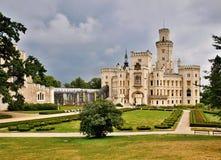 Заявите республику Hluboká замка (глубокую) национальную историческую Ориентир-чехословакскую. Стоковые Изображения RF