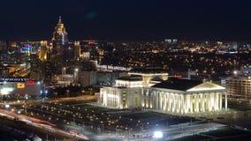Заявите театр оперы и балета с timelapse жилого дома astana kazakhstan видеоматериал