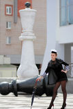 Заявка черного ферзя шахмат Стоковые Изображения