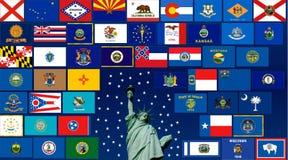 заявляет США Стоковая Фотография