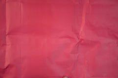 задавленная бумажная красная текстура Стоковые Фото