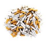 задавленные сигареты стоковое фото rf