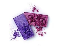 Задавленные тени для век фиолетовых и голубых цветов Стоковая Фотография RF