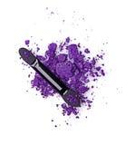 Задавленные фиолетовые тени для век Стоковая Фотография