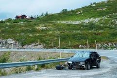 задавленный автомобиль Стоковые Изображения RF