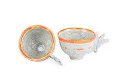 2 залакированных чашки Стоковые Фото
