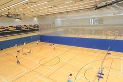 Зала бадминтона Гонконга в спортивном центре Hau вида Стоковые Изображения