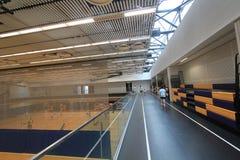 Зала бадминтона Гонконга в спортивном центре Hau вида Стоковые Изображения RF